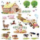 Decowall - Farm Animals Wall Stickers
