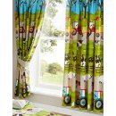Kids Club - Farmyard Animal Lined Curtains