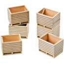 Kids Globe 610611 - Set of 6 Wooden Potato Boxes