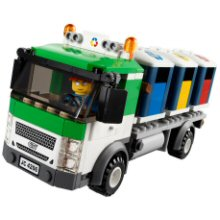 Lego truck on a curved photo angle