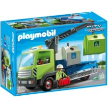 Boxed Playmobil glass sorting truck