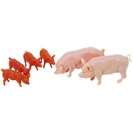 Britains 40966 Large White Pigs, 1:32 Scale