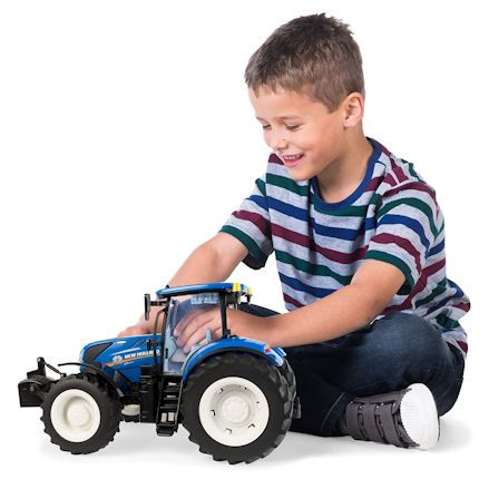 Britains 43156 Big Farm New Holland Tractor, child playing