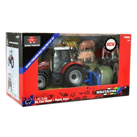 Britains 43205 Massey Ferguson 5612 Tractor Set, Boxed