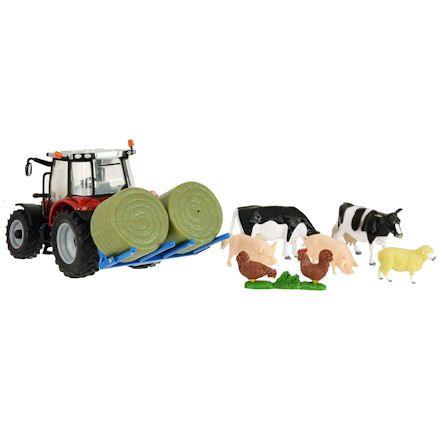 Britains 43205 Massey Ferguson 5612 Tractor Set