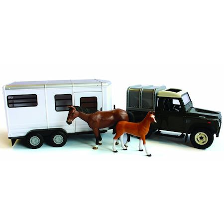 Britains Big Farm Land Rover Defender with Horse Trailer