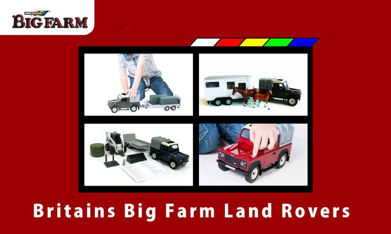 Britains Big Farm Land Rovers guide
