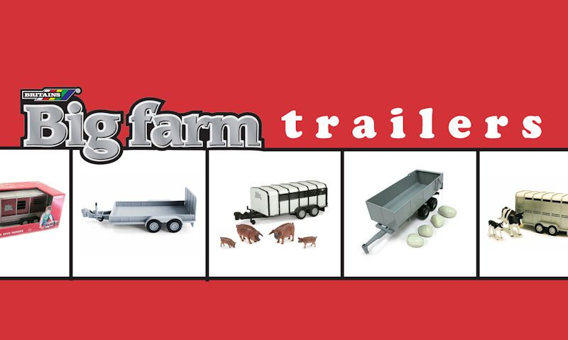 Britains Big Farm trailers