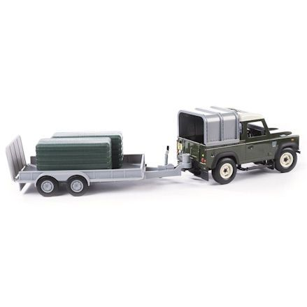 Britains Land Rover, General Purpose Trailer with Bales