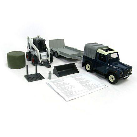 Britains Land Rover, Trailer & Bobcat Skidsteer
