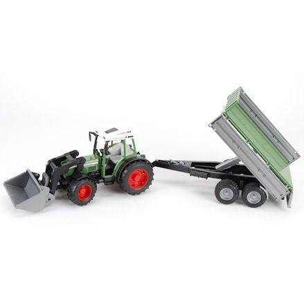 Bruder 01999 Fendt 209 S Tractor, Tipping Trailer