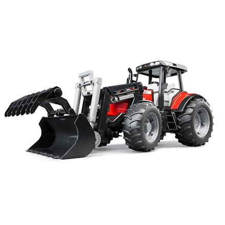 Bruder 02042 Massey Ferguson 7480 Tractor, Grabber Attachment