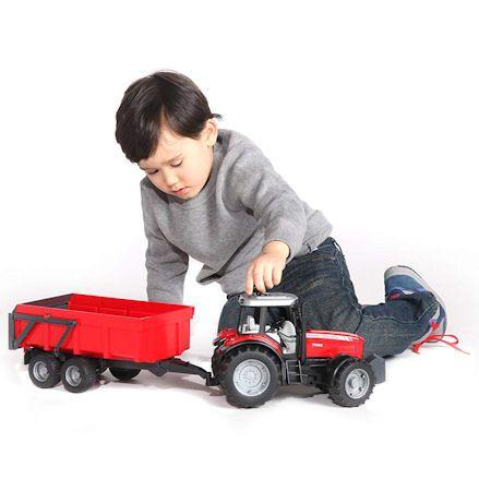 Bruder 02045 Massey Ferguson 7480 Tractor, child playing