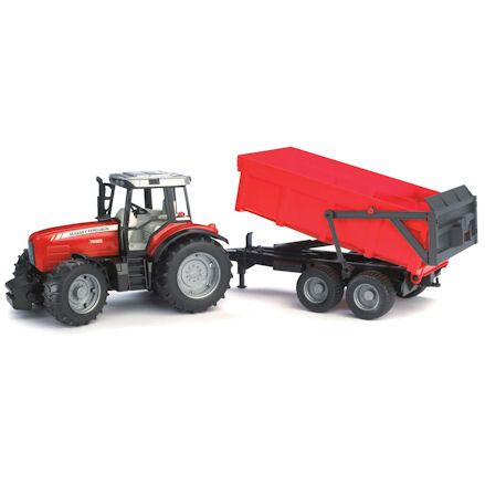 Bruder 02045 Massey Ferguson 7480 Tractor with Tipping Trailer