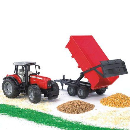Bruder 02045 Massey Ferguson 7480 Tractor, trailer