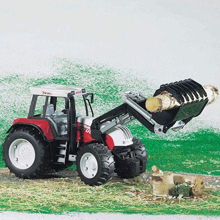 Bruder 02082 Steyr CVT 170 Tractor, front loader