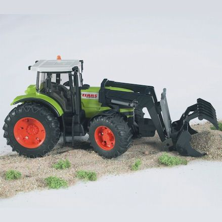 Bruder 03011 Claas Atles 936 RZ Tractor, Grabber Attachment