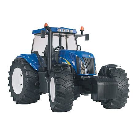 Bruder 03020 New Holland TG285 Tractor, front view