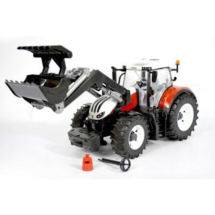 Bruder 03181 Steyr 6300 Terrus CVT Tractor, grabber