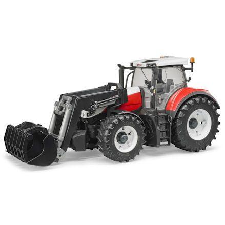 Bruder 03181 Steyr 6300 Terrus CVT Tractor, ground