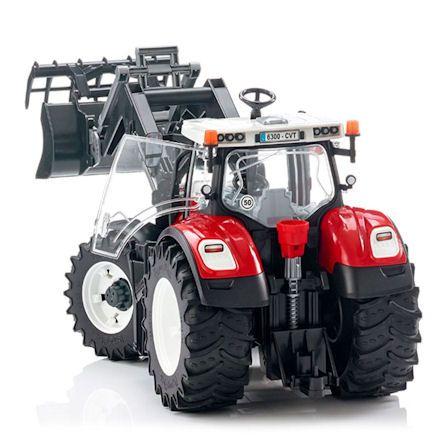 Bruder 03181 Steyr 6300 Terrus CVT Tractor, rear view