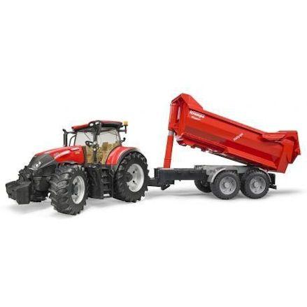 Bruder 03199 Case IH Optum 300 CVX Tractor, trailer tipping
