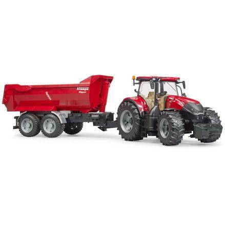 Bruder 03199 Case IH Optum 300CVX Tractor with Krampe Halfpipe