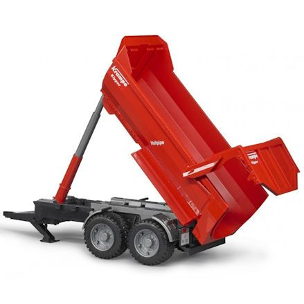 Bruder 03199 Case IH Optum 300 CVX Tractor, tipping trailer