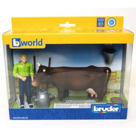 Bruder 62605 Farming Milking Set, boxed