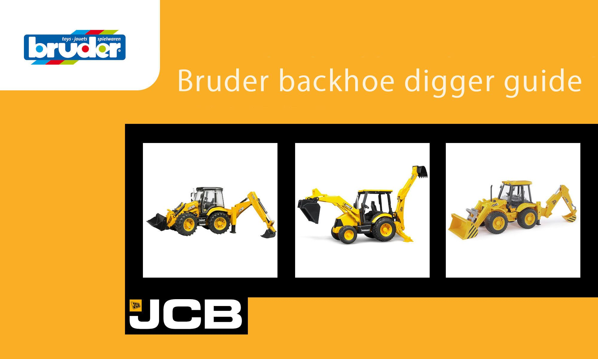 Bruder backhoe diggers guide