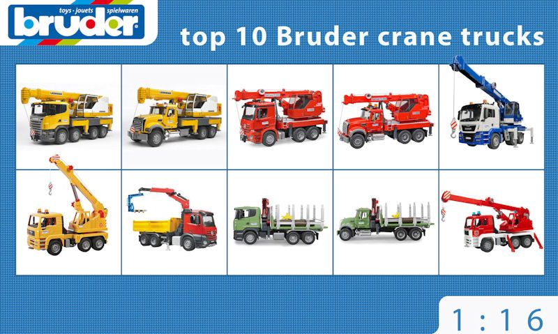 Top 10 Bruder crane trucks