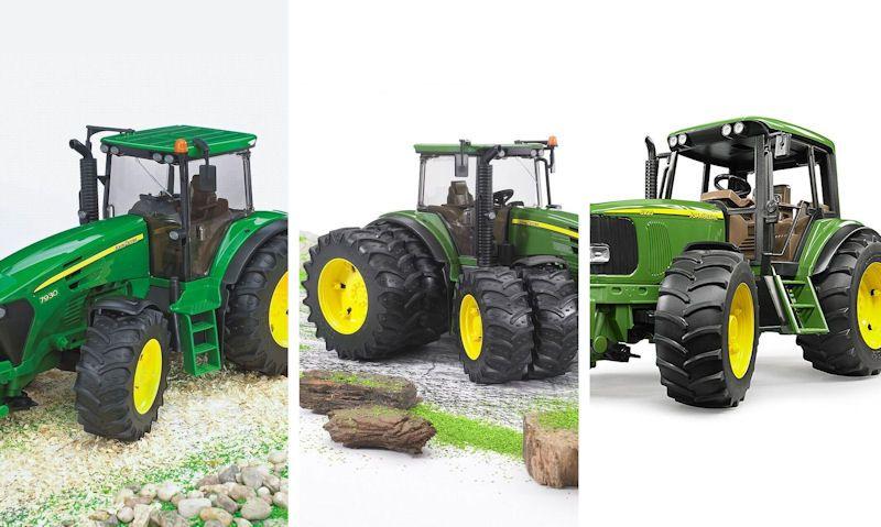 Bruder John Deere tractors