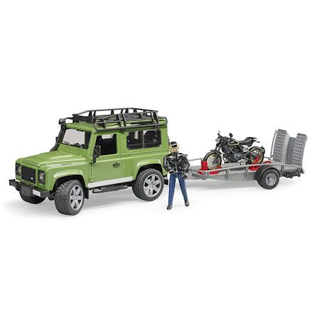 Bruder 02598 Land Rover Defender with Ducati