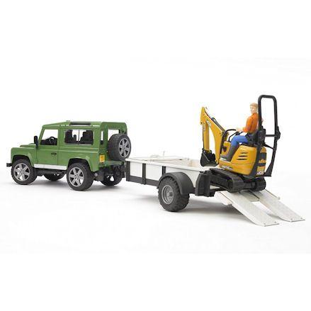 Bruder 02593 Land Rover Defender with Excavator