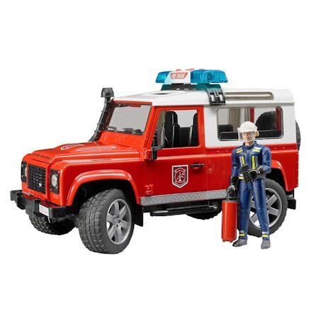 Bruder 02596 Land Rover Defender Fire Dept.