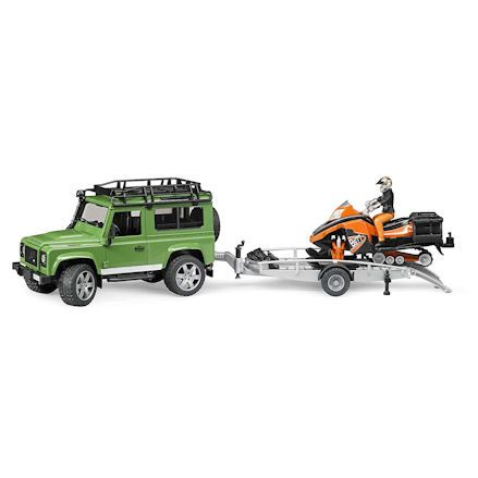 Bruder 02594 Land Rover Defender with Snowmobile