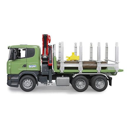 Bruder Scania R-Series Timber Truck with Loading Crane