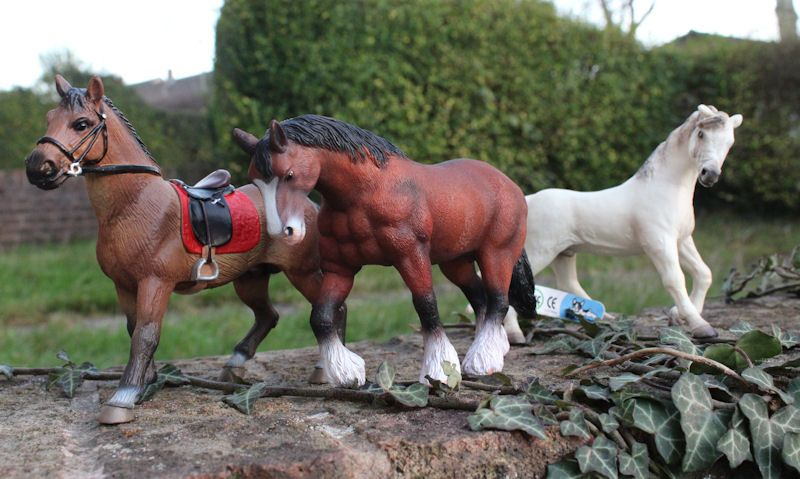 Bullyland horses displayed