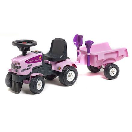 Falk Princess ride-on trac with trailer