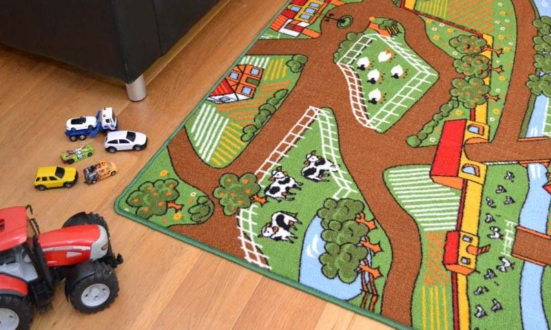 Children's farm playmats