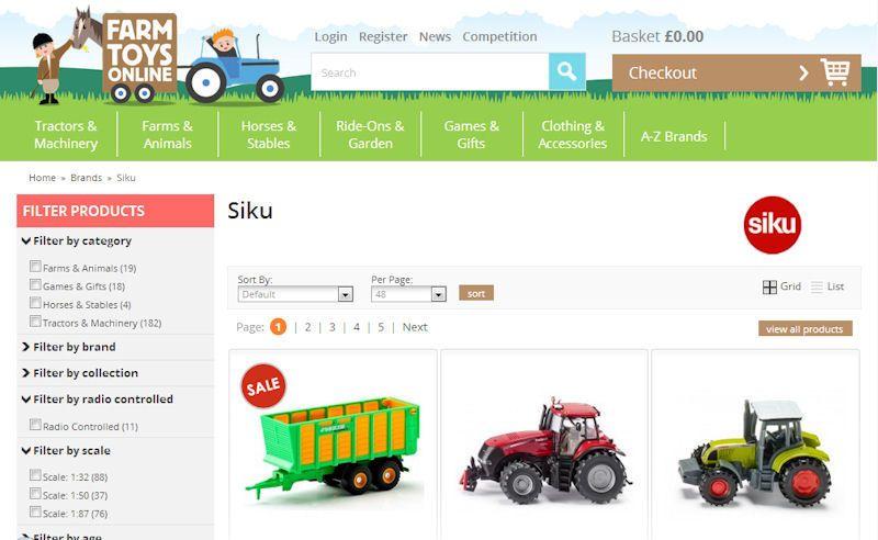 Farm Toys Online Siku toys range screencap