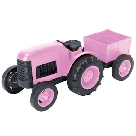 Green Toys pink tractor trailer