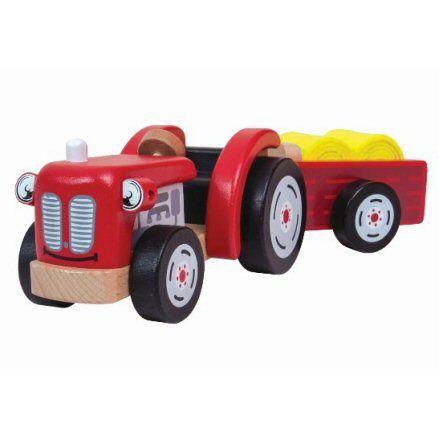 John Crane T0502 Tildo Wooden Tractor, Trailer