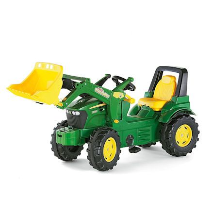 Rolly John Deere ride on tractor with loader