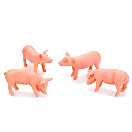Kids Globe 571905 White Pigs, 1:32 Scale