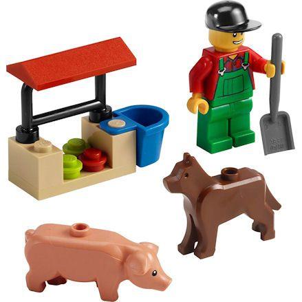 LEGO 7566 City Farmer, left side