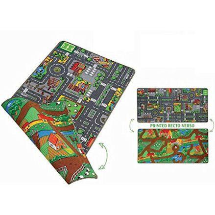 Paradiso Toys: Reversible Farm City Road Duo play Carpet