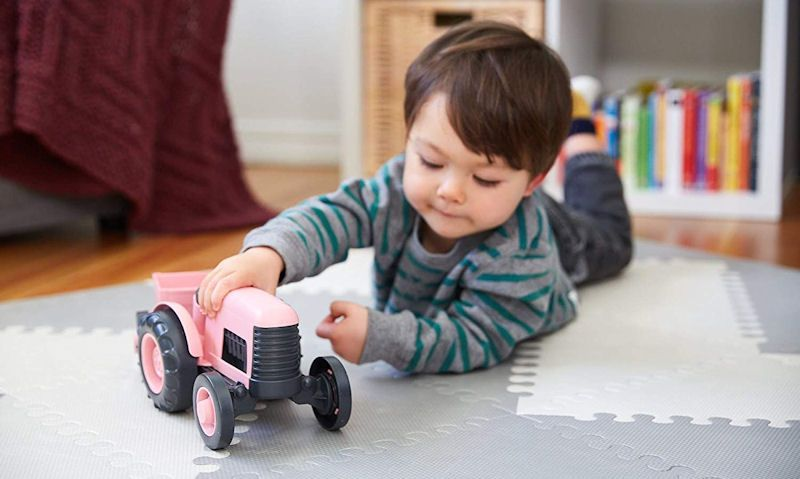 Pretty pink tractor toys
