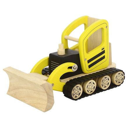 PINTOY Wooden Construction Bulldozer