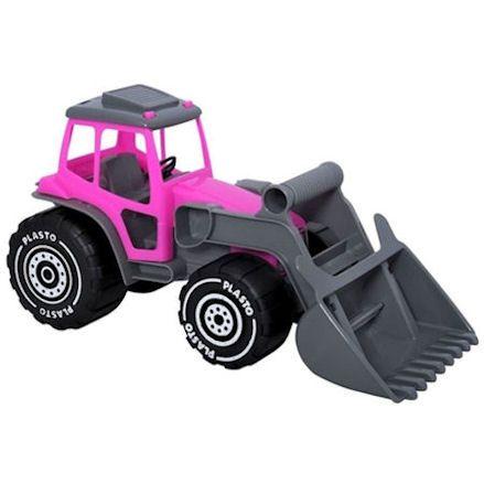Plasto pink tractor
